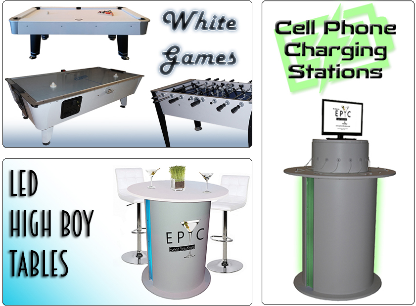 Cell Phone Charging Stations, Game Rentals, Event Marketing