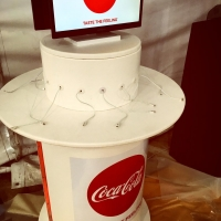 Charging station provided by Coca Cola