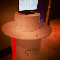 Charging station provided by Ciroc at Revolt Music Conference